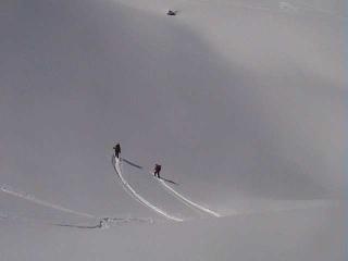 Pulver Schnee...