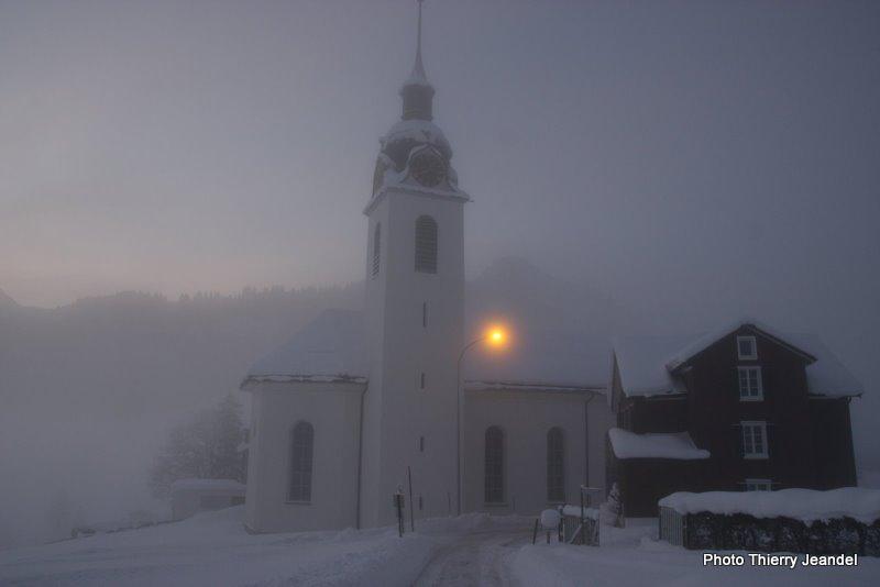 Oberiberg by night