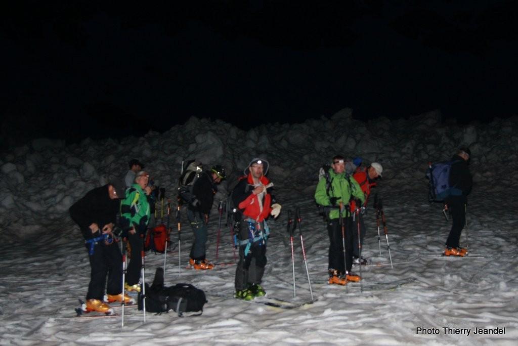 Skieurs noctambules
