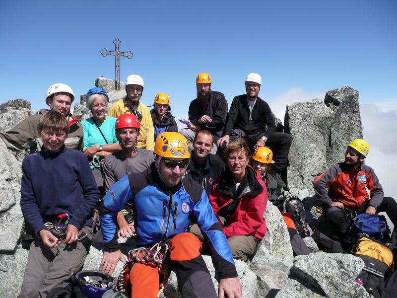Des français, des slovaques, des tchèques, des polonais, un roumain au sommet du Gerlach, point culminant de la Slovaquie