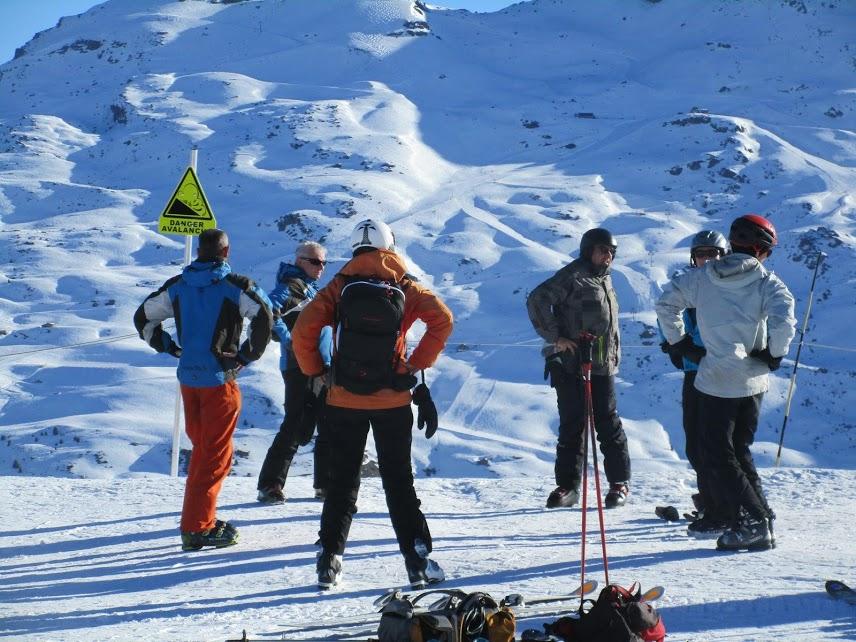 échauffement avant une journée de ski