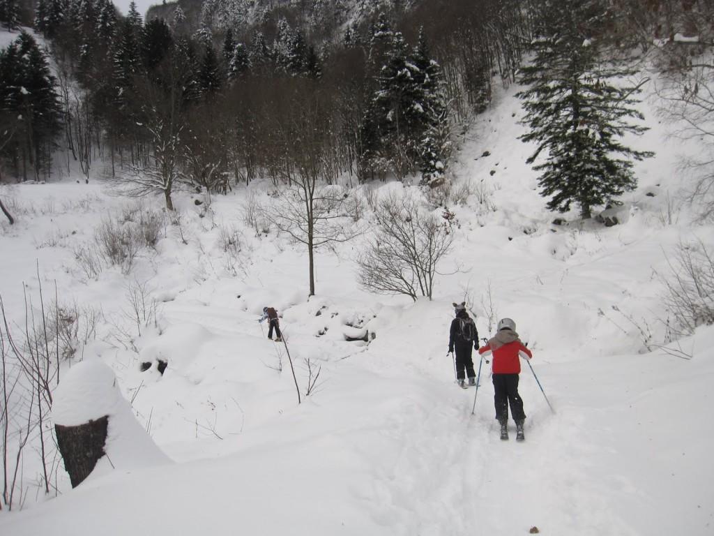 Allez les gamins, au ski !