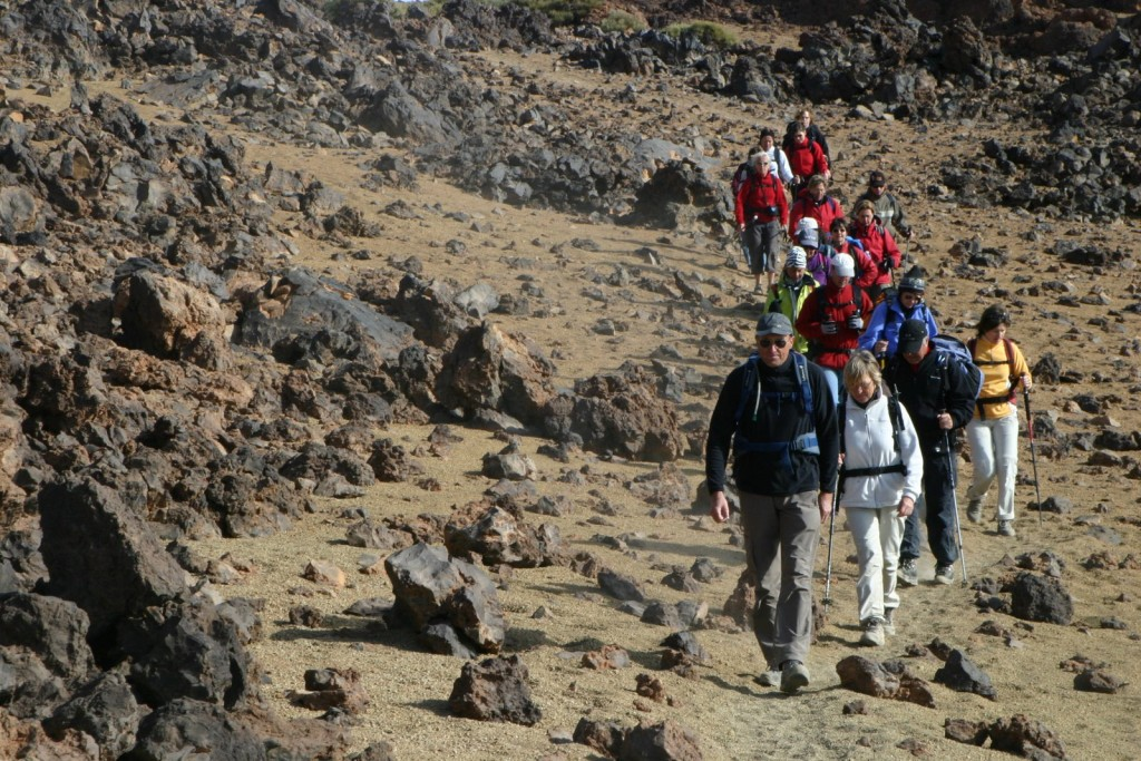 Lors de la traversée du Teide, point culminant de l'Espagne